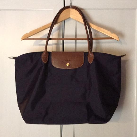 Longchamp Handbags - Longchamp le pliage large eggplant shoulder bag a64f54a786